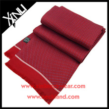 Red Blue Dots Chinese Custom Own Design Silk Scarf