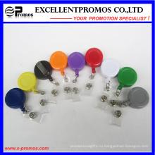 Подгонянный логос самый дешевый пластичный круглый держатель катушек значка (EP-BH112-118)