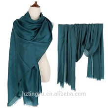 Texted Material 300s/g solid color winter 100% Wool scarf wool for women