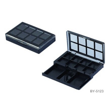 Graceful Square Matte Black 12 Color Eyeshadow Container