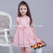 El vestido de fiesta al por mayor del bebé 2017 viste los diseños de los vestidos de los niños del vestido de la muchacha de 4 años