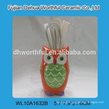 Lovely Ceramic owl designed utensil holder for kitchen