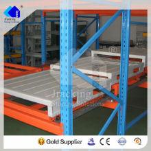Estante de plataforma de empuje de metal selectivo industrial económico