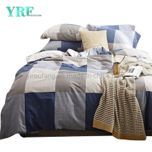Home Bedding Cotton Bedding High Quality New Product Navy Blue Plaid