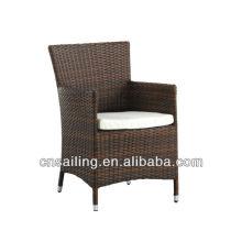 Popular Patio Waterproof brown rattan garden chairs