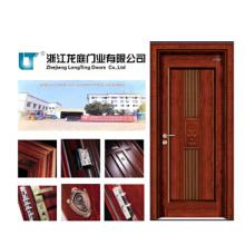 Puerta interior de chapa de madera MDF (LTS-402)