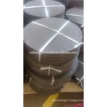 304 mailles de filtre / tissu de fil noir / disque de maille de filtre d'acier inoxydable