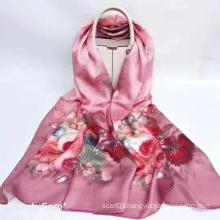 Custom digital print satin cotton scarf silk scarves