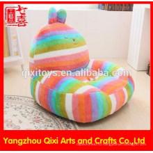 Коралловые флис фаршированный кролик shaped детские диван стул плюшевые игрушки дети детские мягкие диваны