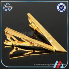 Sedex 4p zhongshan vente en gros clip en or blanc sur le matériel de cravate