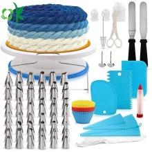Kits de ferramentas multifuncionais de silicone para decoração de bolos