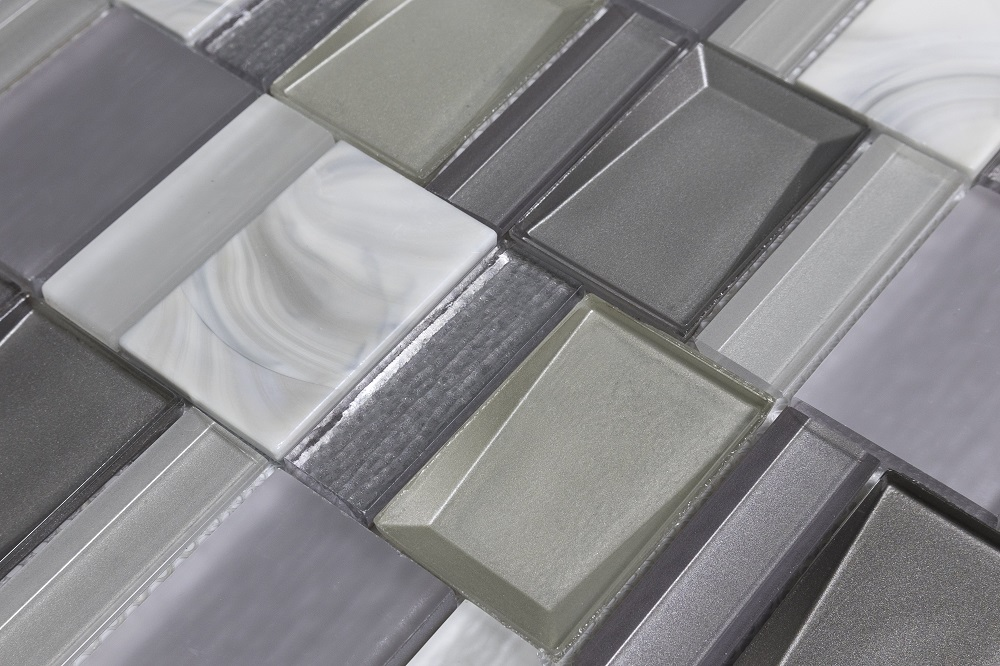 White and Gray Mosaic Ceramic Tiles