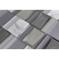 New Product Kitchen White Gray Glass Mosaic Ceramic
