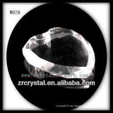 Cuentas de cristal en forma de corazón para decoración W079