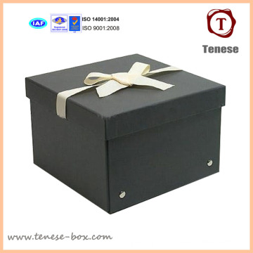 Black 2mm Thickness Paper Card Storge Box with Rivet