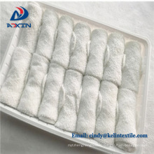2018 hot new products 100% cotton airline disposable hand towels in tray  2017 hot new products 100% cotton airline disposable hand towels in tray
