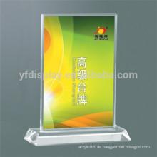 Acryl Tisch Display für Menü und Farbe Seite