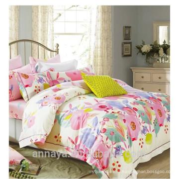 Дизайны цветочного пианино постельные принадлежности комплект пододеяльник набор домашний текстиль хлопок реактивная печать