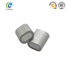 Oval cable aluminium wire rope ferrules