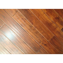 Prefinished Cheap Solid Hardwood Flooring Acacia Hardword Floors Natural Color Brownish Red Hand Scraped Flooring