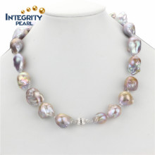 "Collar de agua dulce 15mm AA 18 ""Nucleated Pearl"