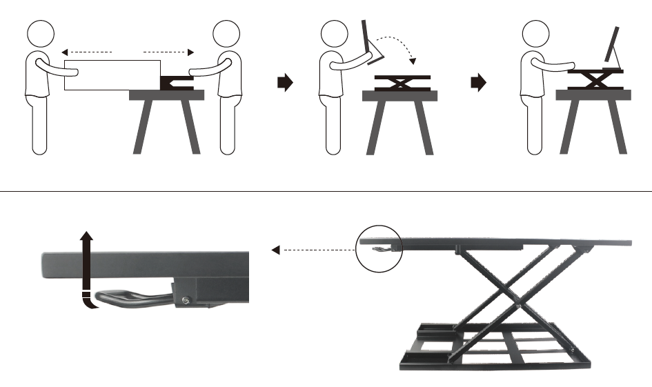 AVRLD01 sit stand desk workstation manual 2