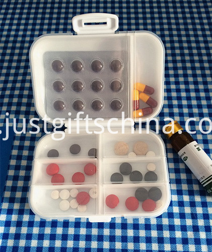 Promotional Mini Plastic Pillboxes W Compartments