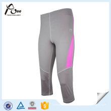 Pantalon de yoga personnalisé 3/4 de compression de vêtements d'entraînement de filles