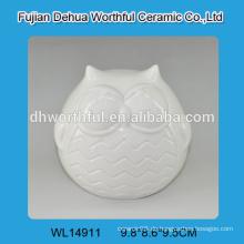 Ausgezeichnete Design Keramik weiß Eule Dekoration für 2016 Haus Dekoration