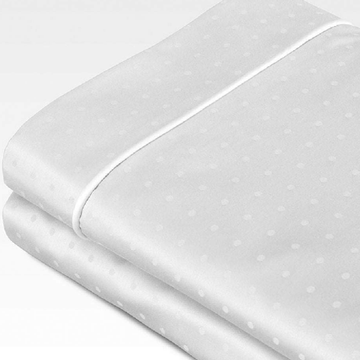 Organic Cotton 700TC Swiss Dot Jacquard Sheet