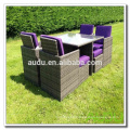 Audu Miami Purple Outdoor Garden Rattan Dining Set