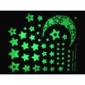 Wandaufkleber für Kinderzimmer fluoreszierende Leuchten im Dunkeln Sterne Wandaufkleber DIY Poster Wohnkultur