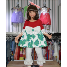 Persnickety remake green leaves clothing set