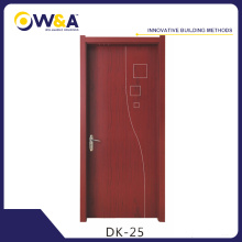 (DK-25)Cheap Interior PVC Wooden Door Manufacturer with CIQ Soncap