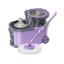 Lazy 360 Microfiber Kitchen Dust Floor Metal Bucket Rotating Cleaning Round Magic Spin Mop