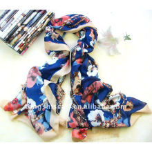 New polyester twill scarf with self-fringe for autumn and winter, wholesale by factory directly