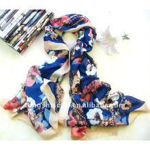 Новый полиэстер саржевого шарф с собственной бахромой для осени и зимы, оптовая фабрики сразу