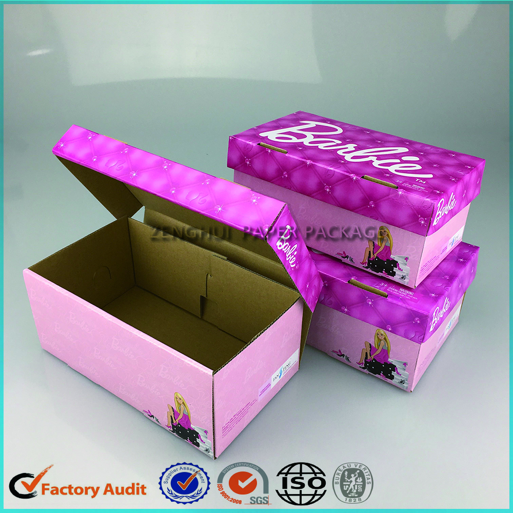 Pink Mini Baby Shoe Box Packaging