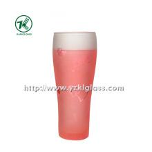 Розовая стеклянная бутылка с двойной стенкой (6.5 * 5 * 18 280 мл)