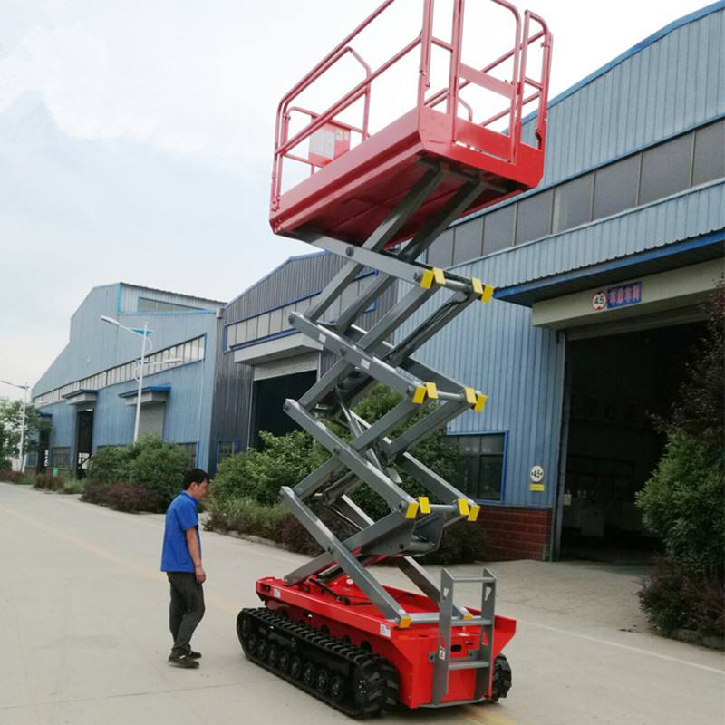Full Automation 6m Height Tracked Self Propelled Scissor Lift With Dc Battery