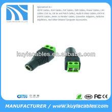 Adaptateur femelle femelle CCTV UTP de 5,5 mm et 2,1 mm