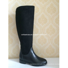 Flat Comfort Lange Damen Leder Stiefel für Mode Lady