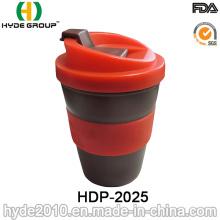 8oz/250ml Plastic Coffee Mug with Embossed Printing Logo (HDP-2025)