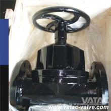 Плоская поверхность ANSI/сталь JIS/ГБ/БС Ру10/Ру16 Тип плотины Чугун Gg25 Клапан Выровнянный тефлон