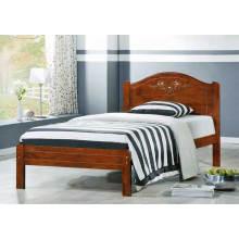 Lit en bois simple, meuble de chambre à coucher