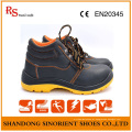 Sapatos de trabalho de segurança resistente a produtos químicos no campo petrolífero RS801