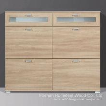 Modena Royal Walnut Wooden Shoe Cabinet (HF-EY0814)