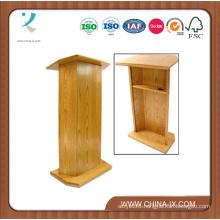 Floor Standing Podium with Open Back and Adjustable Shelf