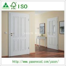 Porta de madeira Interior design moderno branco acabado