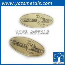 Placa de marca personalizada de metal em relevo